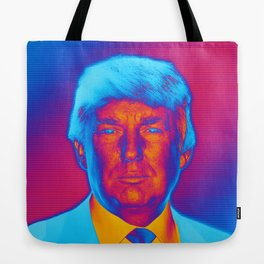 Pop Art President Trump Tote Bag