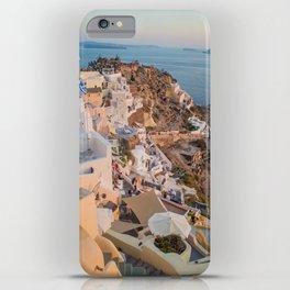 Grecian Sunset in Santorini, Greece iPhone Case