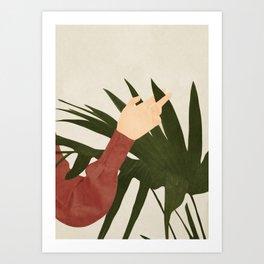 Between the Fingers Art Print