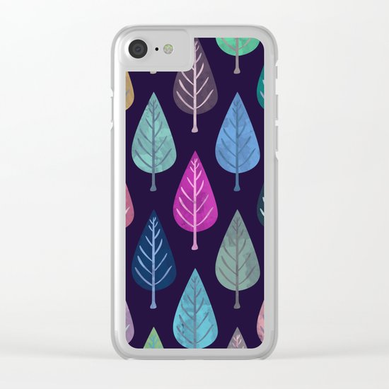 Watercolor Forest Pattern IV Clear iPhone Case