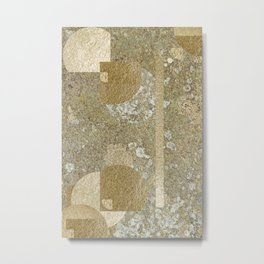 Lichen and Gold Pattern Metal Print