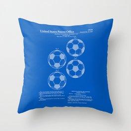 Soccer Ball Patent - Blueprint Throw Pillow