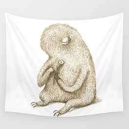 Sloth With Flower Wall Tapestry