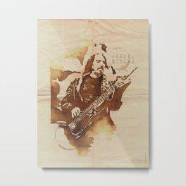 Geezer Butler Ilustracafe Metal Print