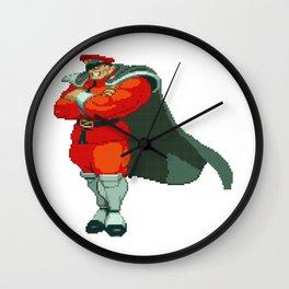 M. Bison (AKA Vega) Pixel Art Wall Clock