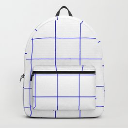 Graph Paper (Blue & White Pattern) Backpack