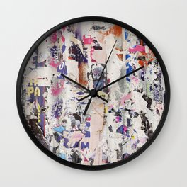 STREET POSTERS BITS & PIECES Wall Clock