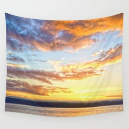 Awaiting Sunset Wall Tapestry