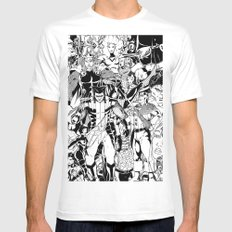 Whose Side Are You On? MEDIUM White Mens Fitted Tee