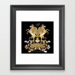 The Royal Horses (Black) Collection Framed Art Print