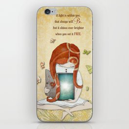 Light within you iPhone Skin