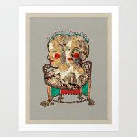 girls Art Prints featuring Girls by R. Gorkem Gul