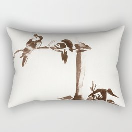 Japanese Birds Rectangular Pillow