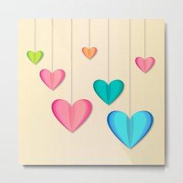 Hangin Hearts Metal Print