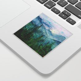 Spring Mountainscape Sticker