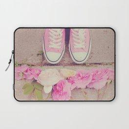 English Roses And Pink Chucks Laptop Sleeve