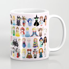 Cute kokeshis fairy tales Coffee Mug