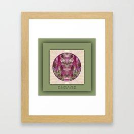 Engage Manifestation Mandala No. 7 Framed Art Print