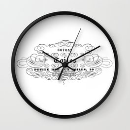 French Toiles  Wall Clock
