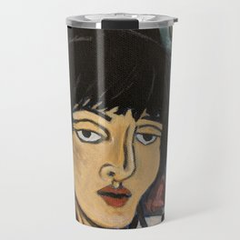 woman reading in the tub Travel Mug