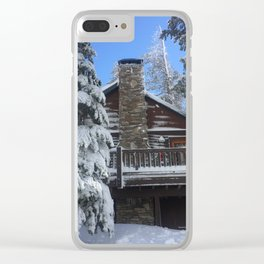 Mammoth Lakes Christmas Clear iPhone Case