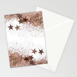 SHAKY STARS ROSEGOLD Stationery Cards