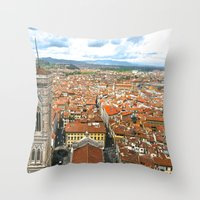 florence Throw Pillows featuring Florence by NatalieBoBatalie