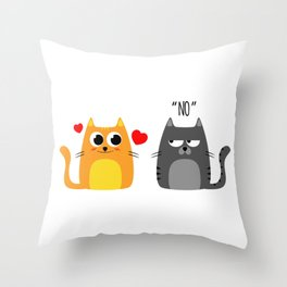 Disappointing relationship Throw Pillow