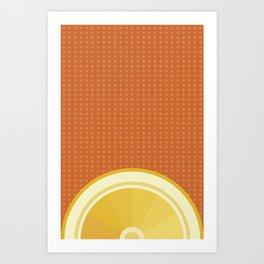 Orange I Art Print