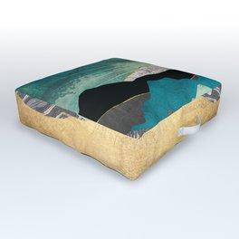 Peacock Vista Outdoor Floor Cushion