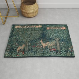 William Morris Greenery Tapestry Rug