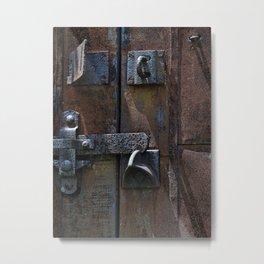 Old Factory Door Metal Print
