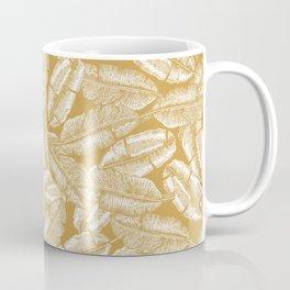 Golden Banana Leaves Coffee Mug