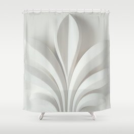 White sculpture Shower Curtain