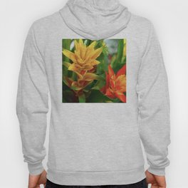 Exotic Red and Yellow Tropical Hawaiian Flowers Hoody