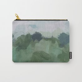 Sky Blue and Sage Green Abstract Painting, Modern Wall Art Print, Rural Country Farm Rustic Carry-All Pouch