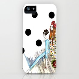 Dots & bow iPhone Case