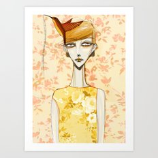 flowerella 4 Art Print