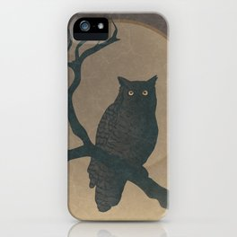 Wild Owl Moonlight Night iPhone Case
