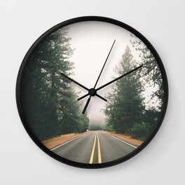 Follow the Road Wall Clock
