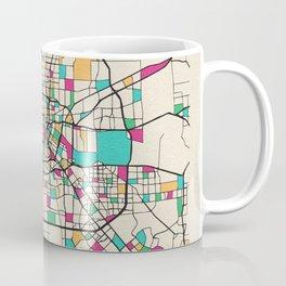 Colorful City Maps: Houston, Texas Coffee Mug