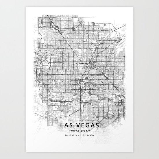 Las Vegas, United States - Light Map by designermapart