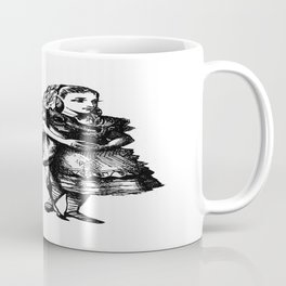 Alice and the Fawn in Black Coffee Mug