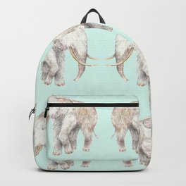 Woolly Mammoth Watercolor Mastodon Painting Backpack