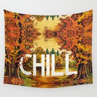 chill Wall Tapestries featuring Chill by James McKenzie