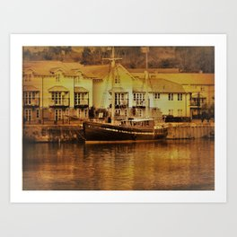 There's a Boat Coming in. Art Print