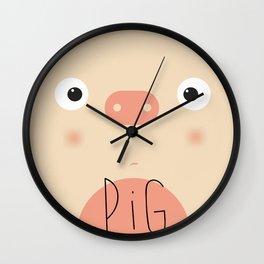 Animal muzzle pig Wall Clock
