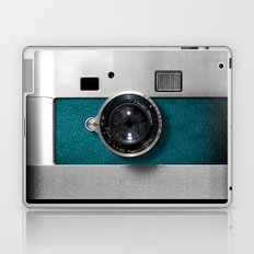 Classic retro Blue Teal Leather silver Germany vintage camera iPhone 4 4s 5 5c, ipod, ipad case Laptop & iPad Skin