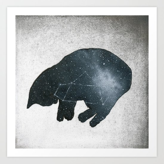 Galaxy Cat Art Print