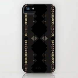 Southwestern Black Diamond Stripe Patterns iPhone Case